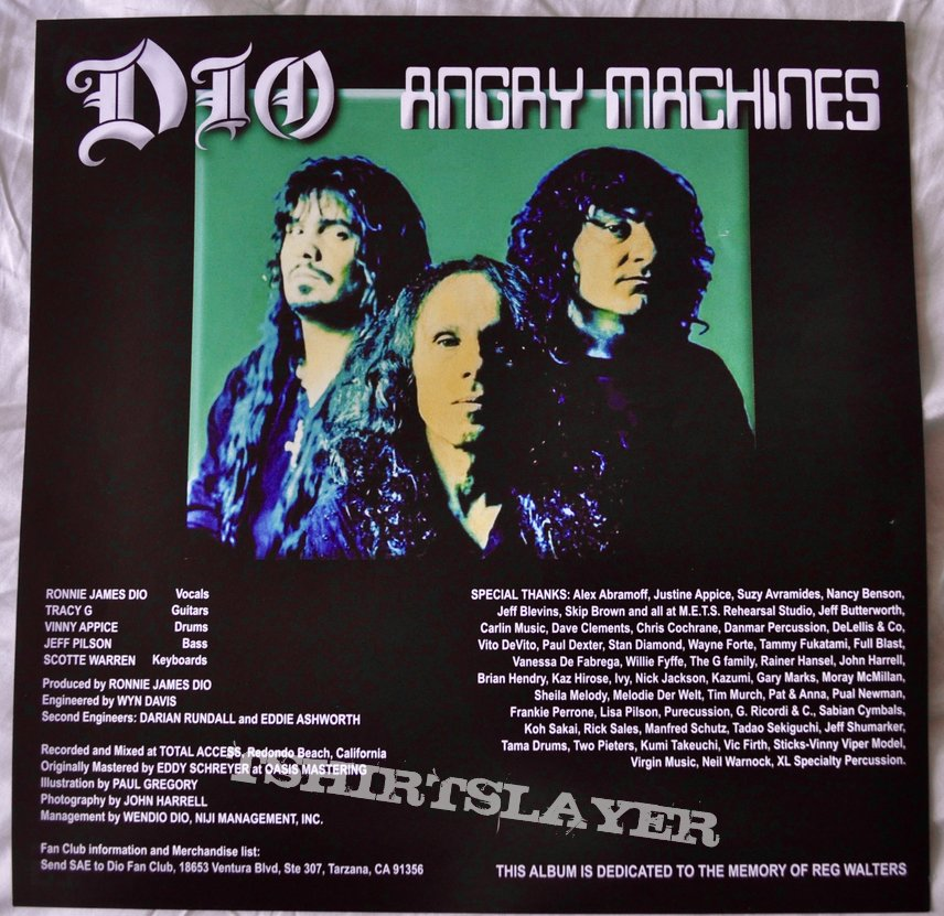 Dio  ‎– Angry Machines Vinyl