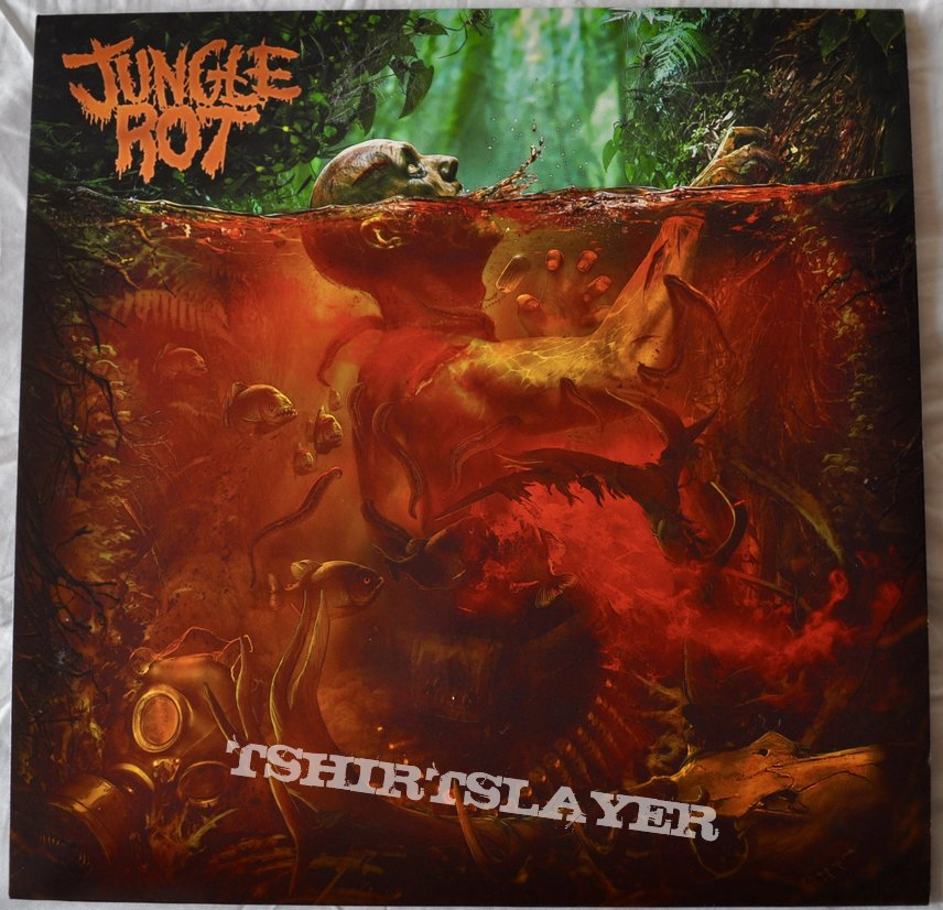 Jungle Rot ‎– Jungle Rot Blood In The Water Colored vinyl
