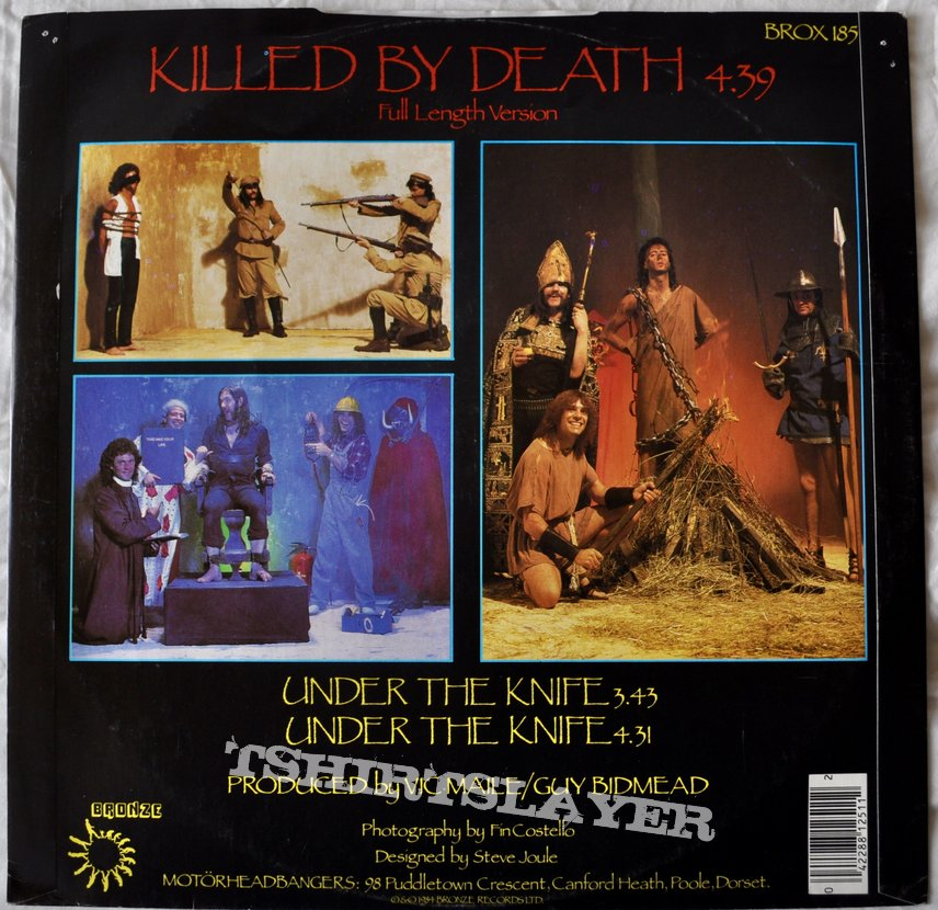 "Motörhead ‎– Killed By Death 12"" Vinyl"