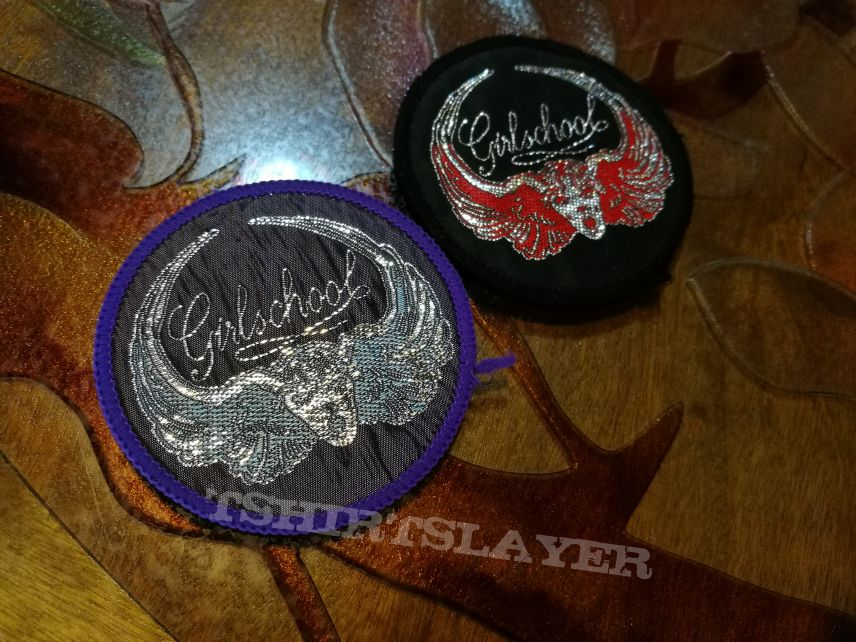Girlschool vintage patches