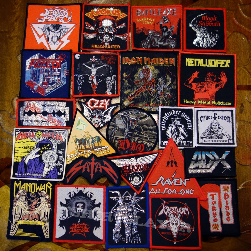 Heavy Metal And Nwobhm Some Of My Modest Patch Collection