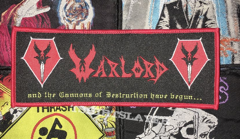 Warlord - And The Cannons Of Destruction Have Begun... Woven Strip Patch
