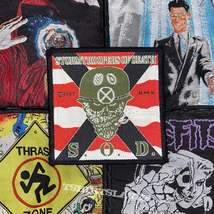 S.O.D. - Speak English Or Die Original Woven Patch