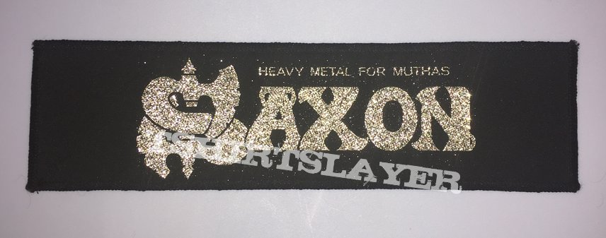 Saxon - Heavy Metal For Muthas Vintage Woven Strip