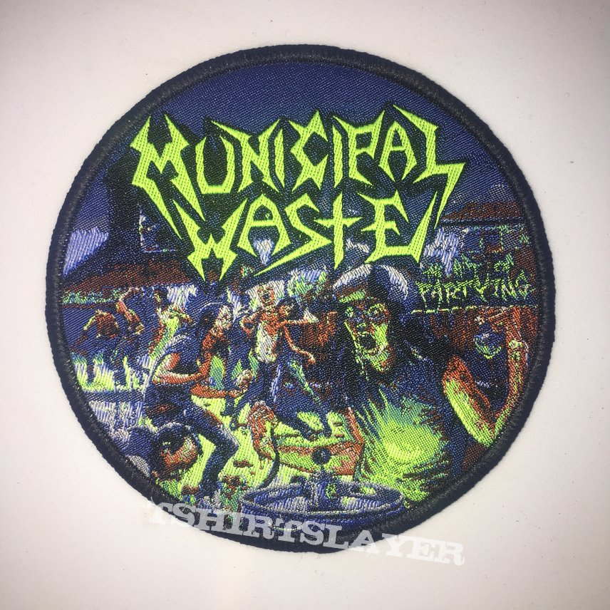 Municipal Waste - The Art Of Partying Woven Patch
