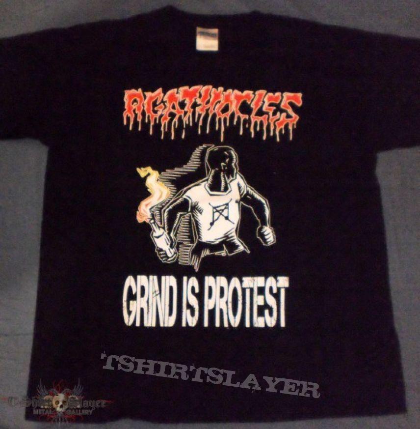 TShirt or Longsleeve - Agathocles - Grind is Protest
