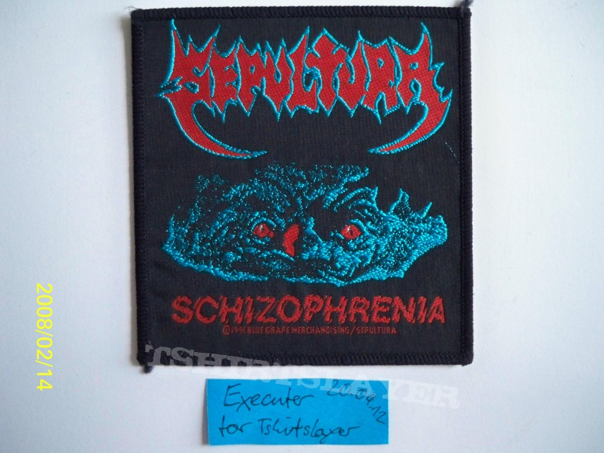Patch - Sepultura - Schizophrenia (woven Patch) [gone]