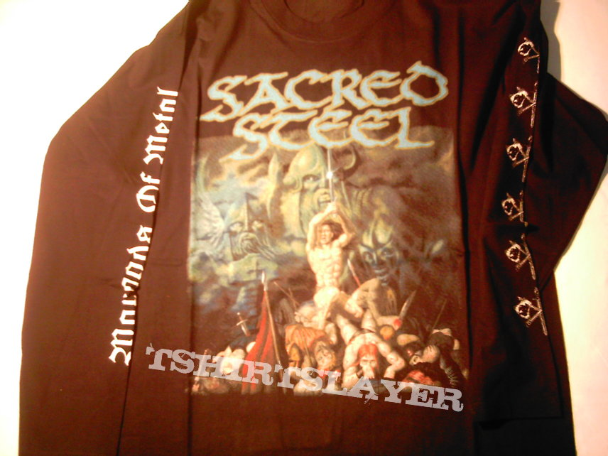 Sacred Steel Wargods Of Metal longsleeve 1998 RARE First print Never used