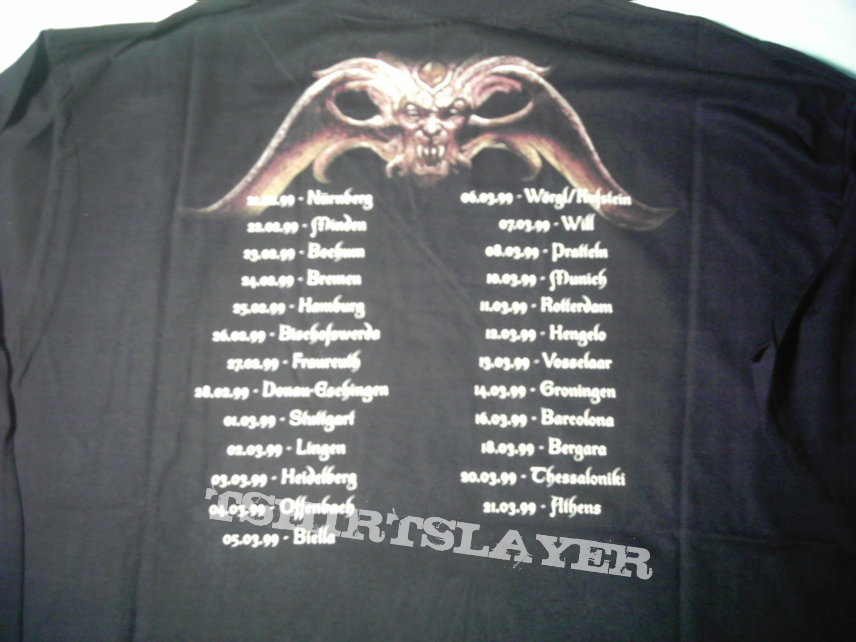Nocturnal Rites The Sacred Talisman longsleeve tour 1999 RARE First print Never used
