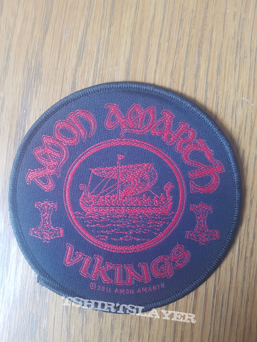 Amon Amarth - Vikings black border patch