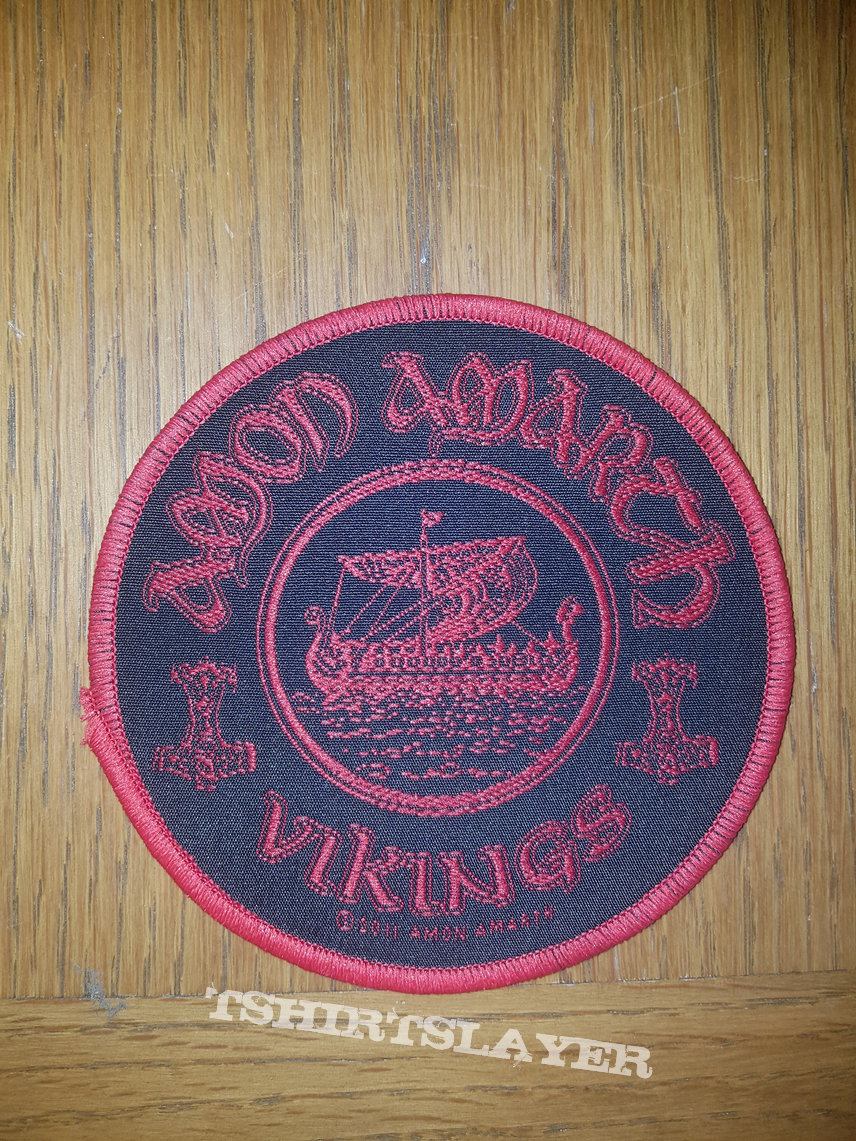 Amon Amarth - Vikings red border patch
