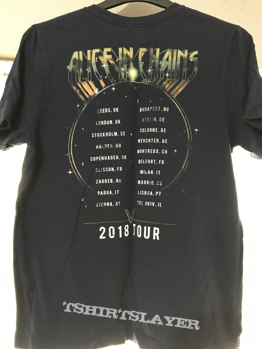 Alice In Chains 2018 tour t-shirt