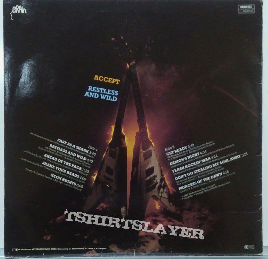 Accept-Restless And Wild 1982 Vinyl