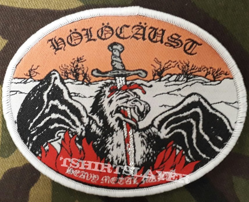 Holocaust Heavy Metal Mania Oval Woven Patch