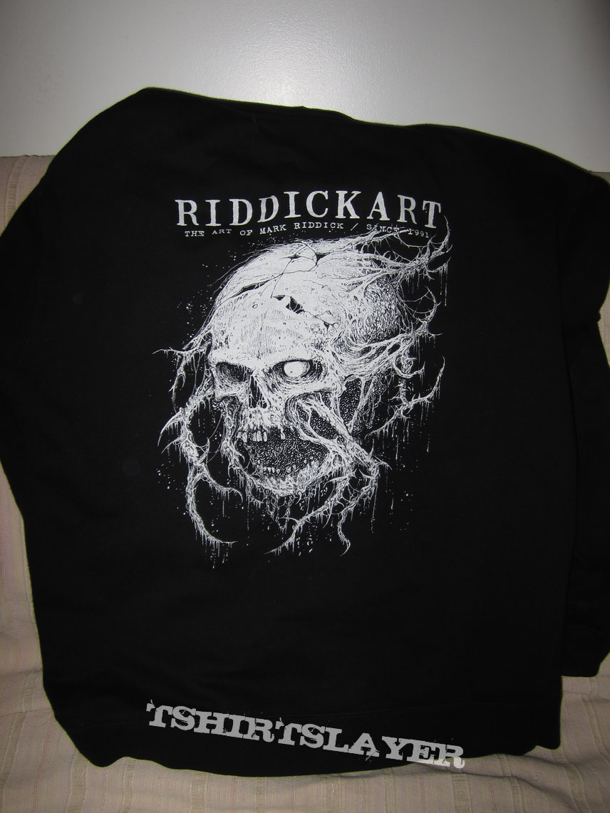 mark riddick zip-up hoodie size L