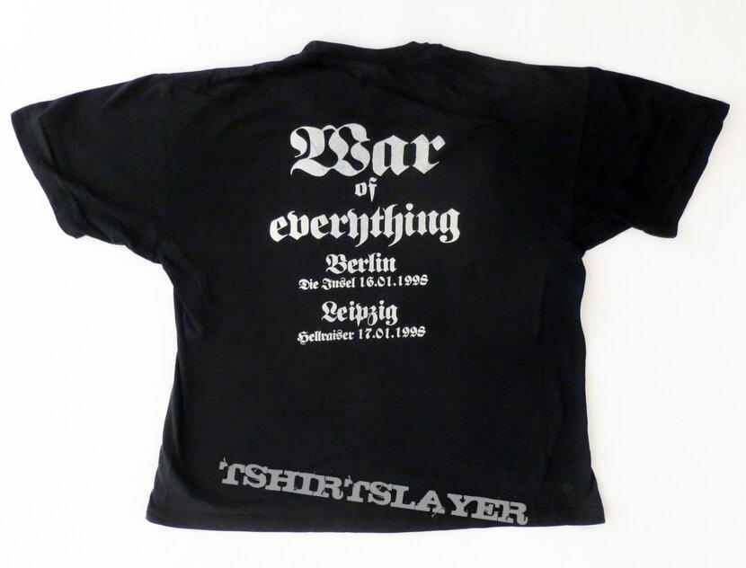 """Mayhem - Germania """"War Of Everything Tour"""" Shirt 1998"""