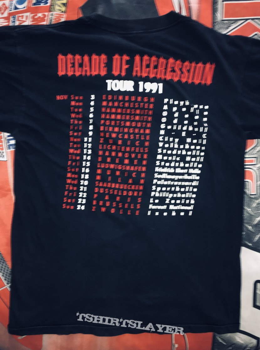 Slayer 'Decade Of Aggression' Tour L/S Shirt
