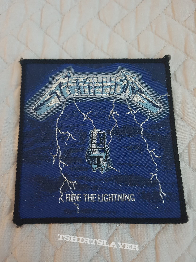 Ride the Lightning vintage patch