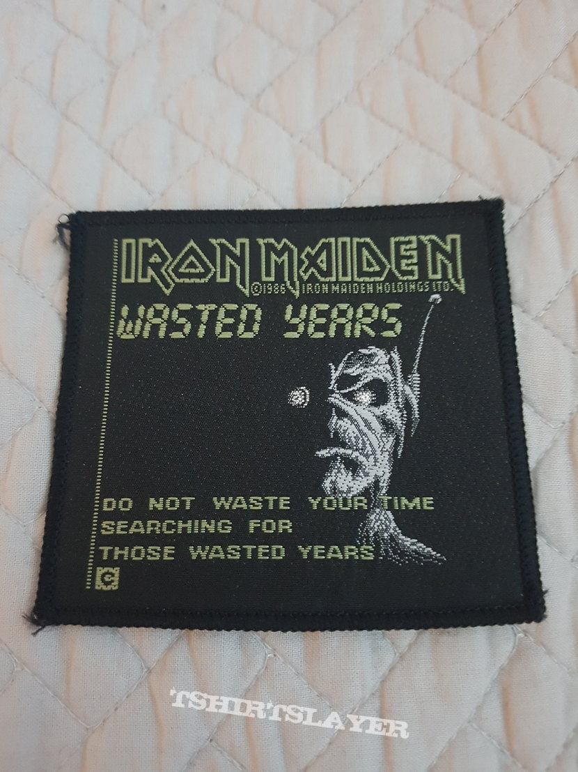 Wasted Years vintage patch