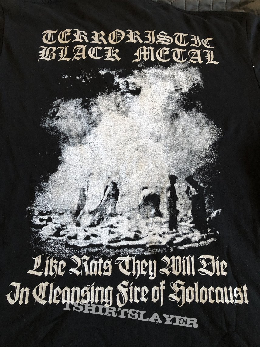 """SZRON - """"The Purificating Flame of Annihilation"""" official tshirt"""