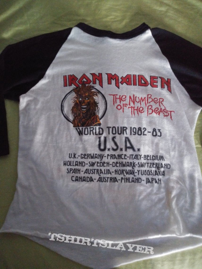 Iron maiden the number of the beast world tour 82