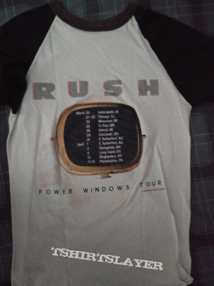 Rush power windows 1985 tour shirt