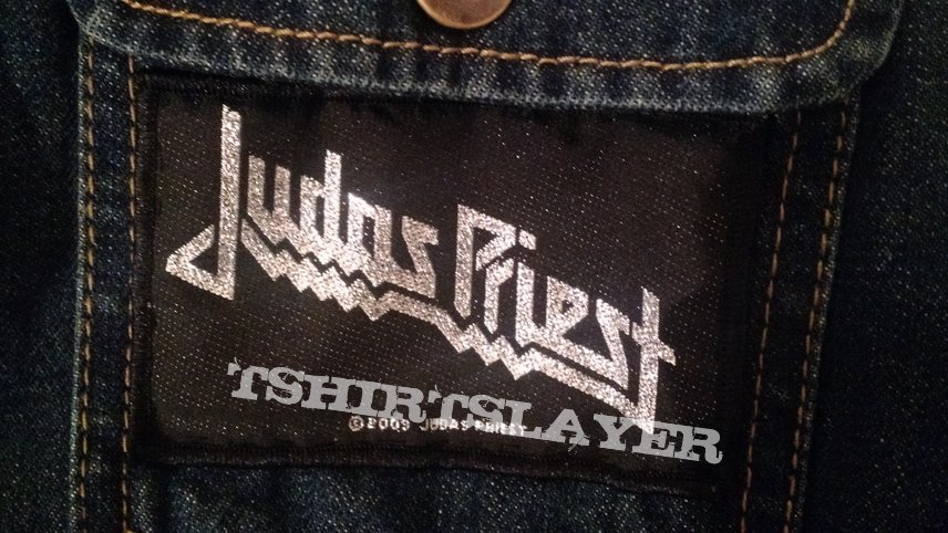 Judas Priest silver logo patch