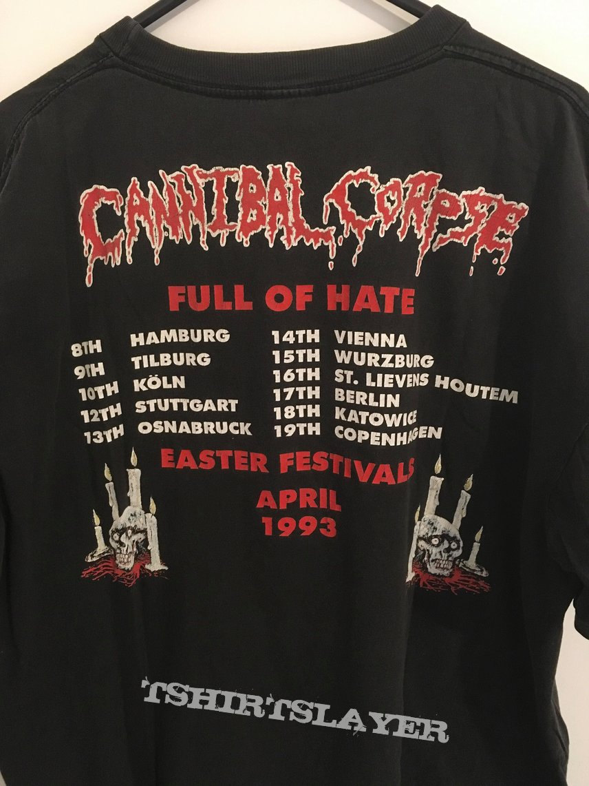 Cannibal Corpse 1993 Full Of Hate Tour Tomb of the Mutilated shirt