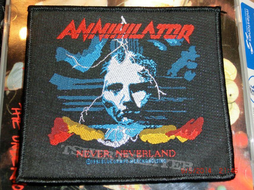 """Annihilator """"Never Neverland""""  1991 & 2009"""