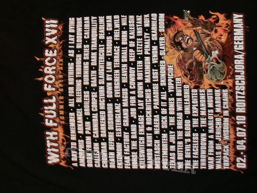 """Crowbar """"With Full Force 2010"""" Artist Shirt"""