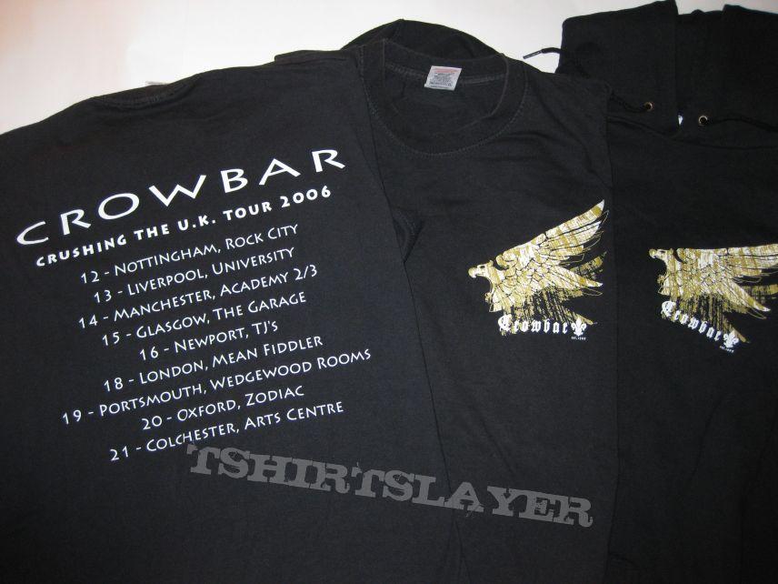 "TShirt or Longsleeve - Crowbar ""Crushing The U.K."" 2006 Tour Shirt & Hooded Sweat Shirt"