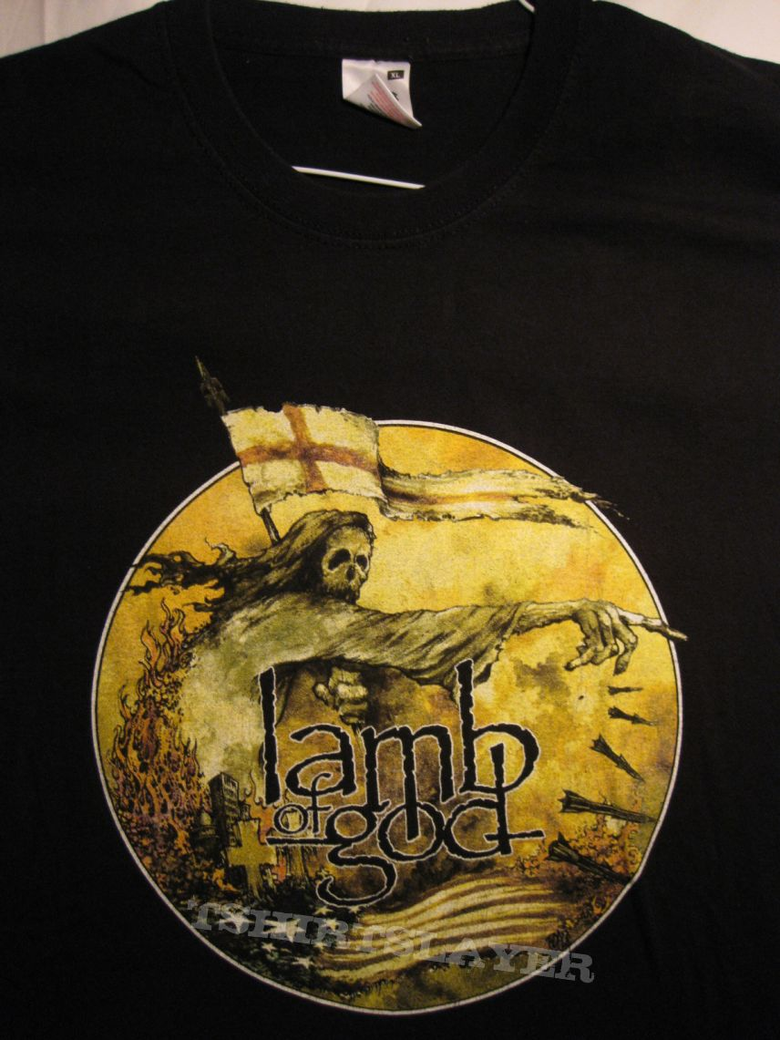 LAMB OF GOD LOGO Long Sleeve New T-shirt  Rock Band Shirt Long Sleeve Tee