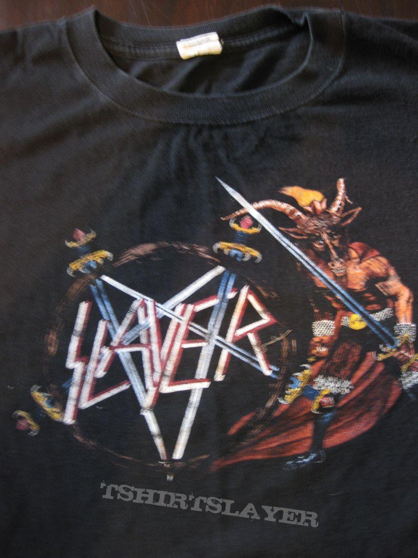 "SLAYER /""HATE WORLDWIDE TOUR 2011/"" BLACK T-SHIRT NEW OFFICIAL ADULT THRASH METAL"