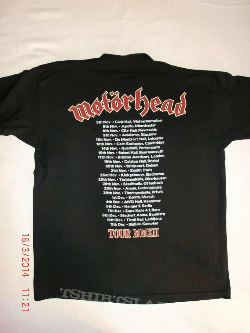 mot rhead tour 2012 swords t shirt tshirtslayer. Black Bedroom Furniture Sets. Home Design Ideas