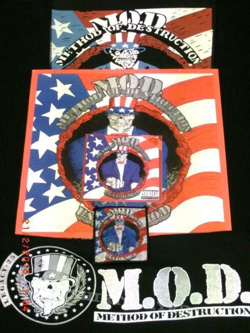 "M.O.D. ""U.S.A. for M.O.D."" Collection- LP, CD, Backpatch, Patch,  Shirt"