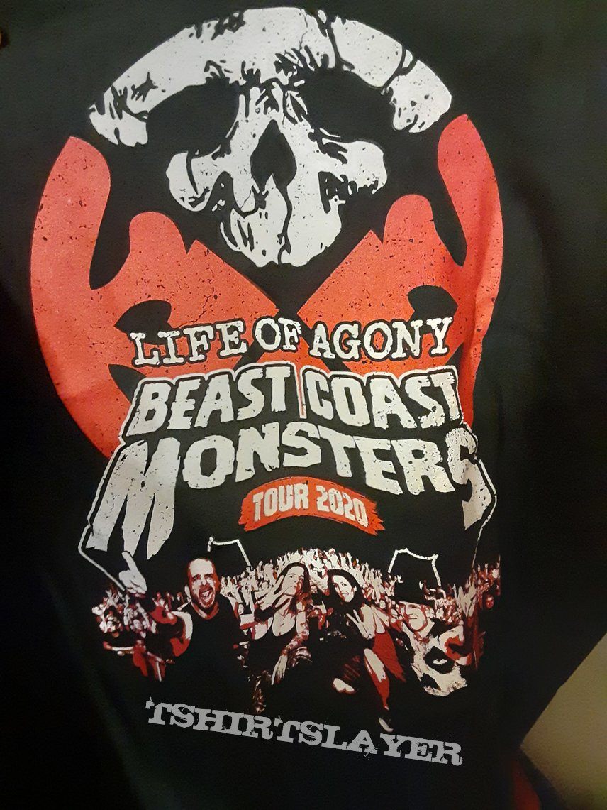 Life of Agony Beast Coast Monsters cancelled tour shirt