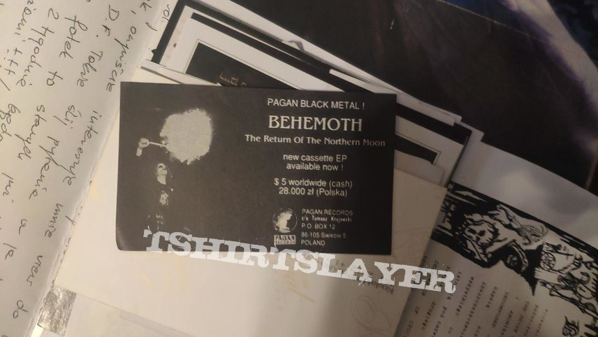 Behemoth - The Return of the Northern Moon Pagan Rec Flyer