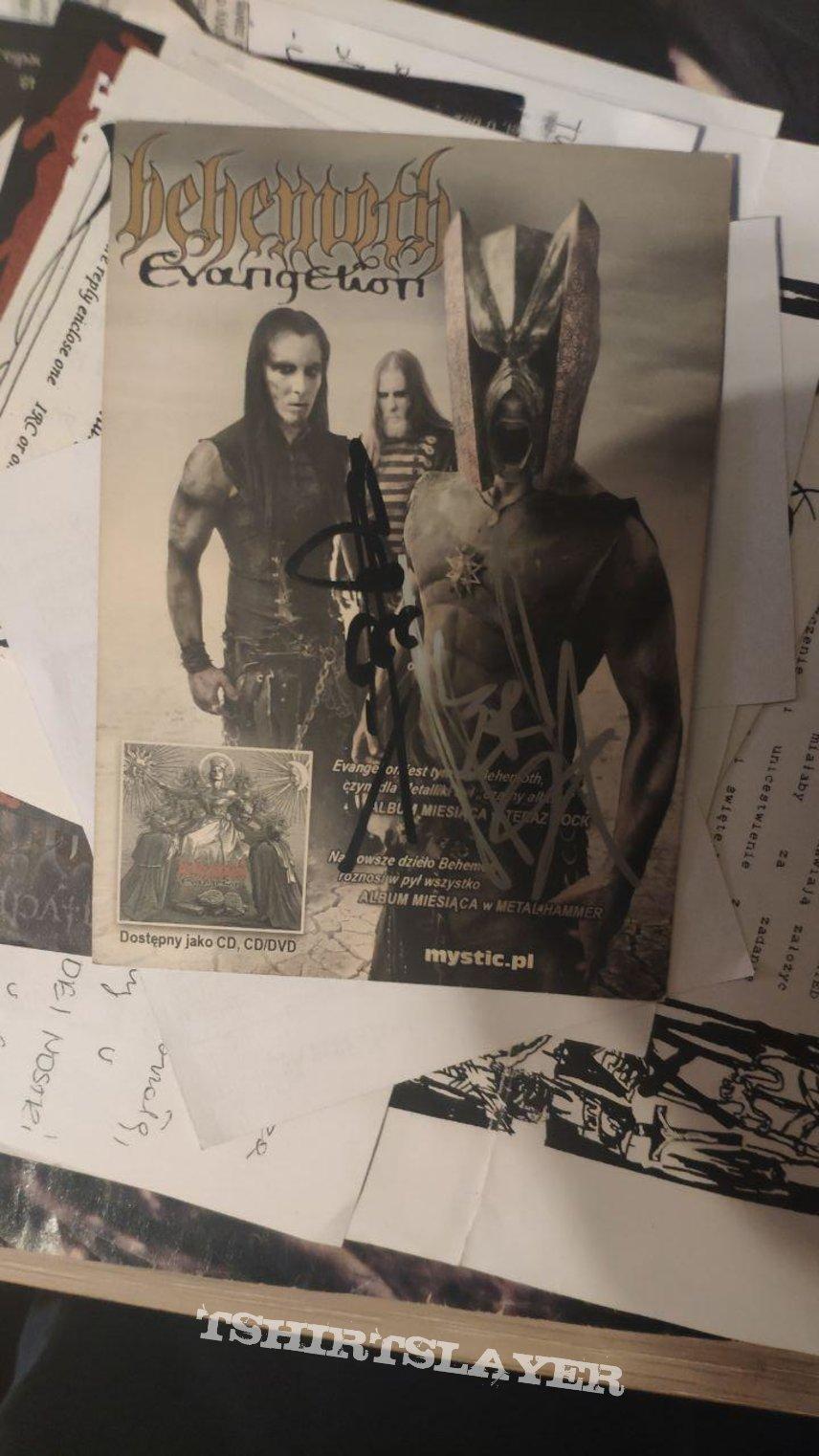 Behemoth - Evangelion flyer Mystic