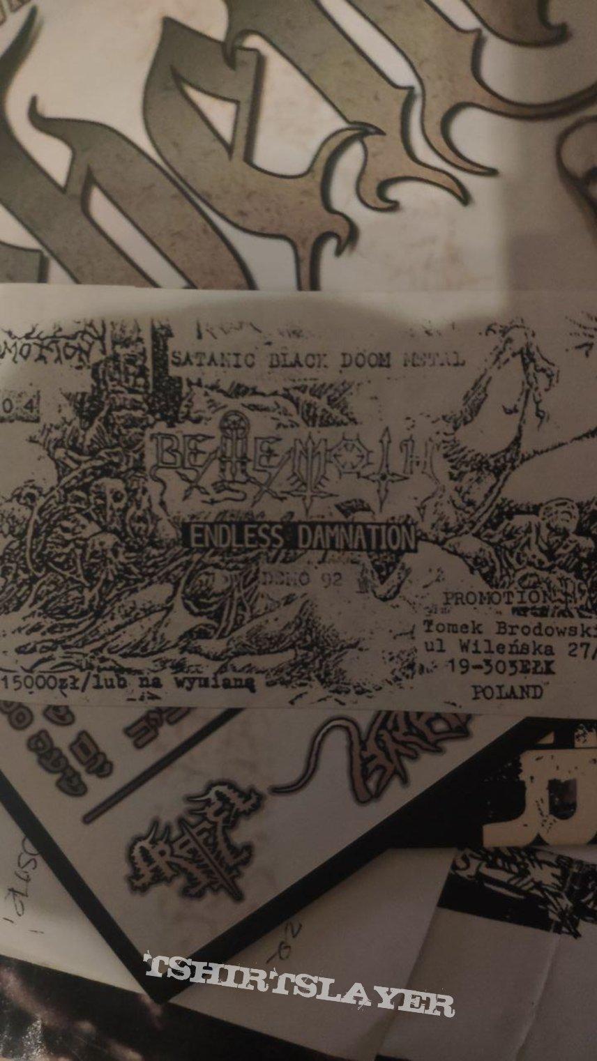 Behemoth - Endless Damnation flyer frozen promotion