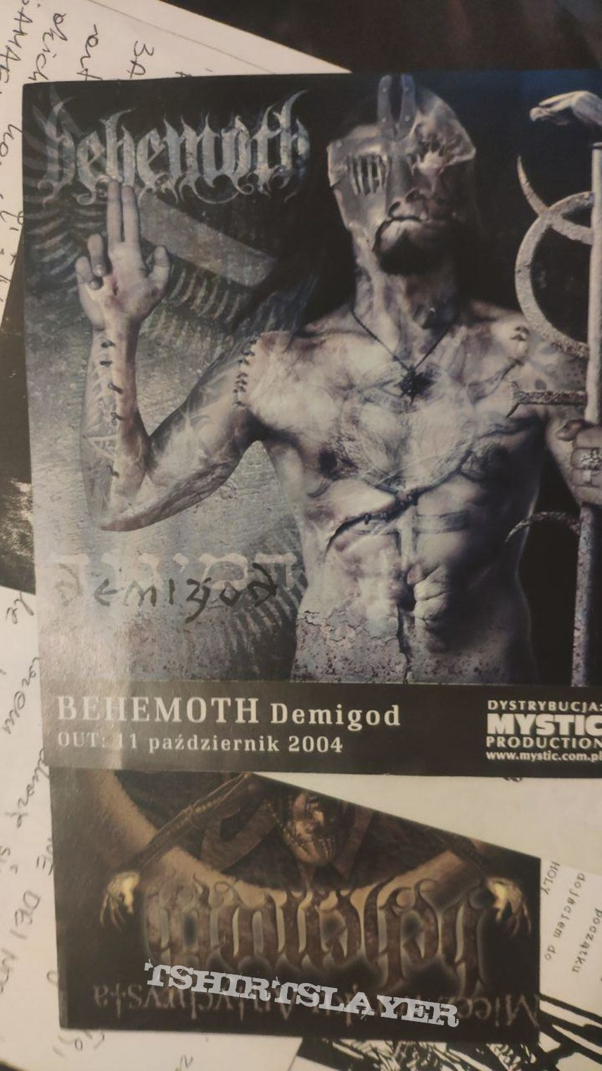 Behemoth - Demigod flyer (Mystic)