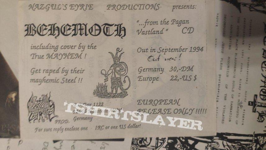 Behemoth - From The Pagan Vastlands Flyers Nazguls Eerie
