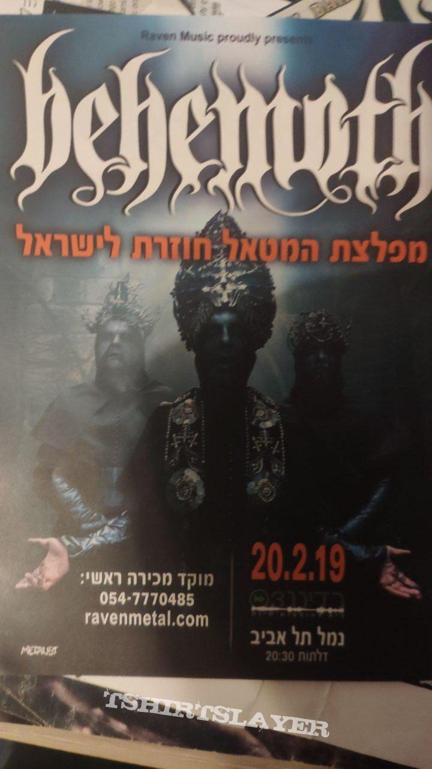 Behemoth - ILYAYD flyer RavenMusic (israel)