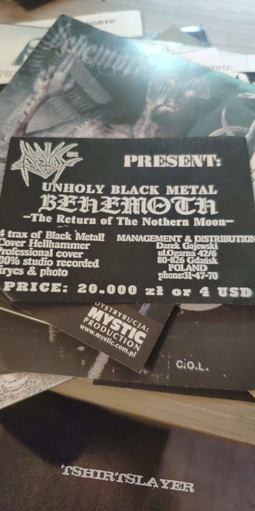 Behemoth - The Return of the Northern Moim flyer Bestial Rec
