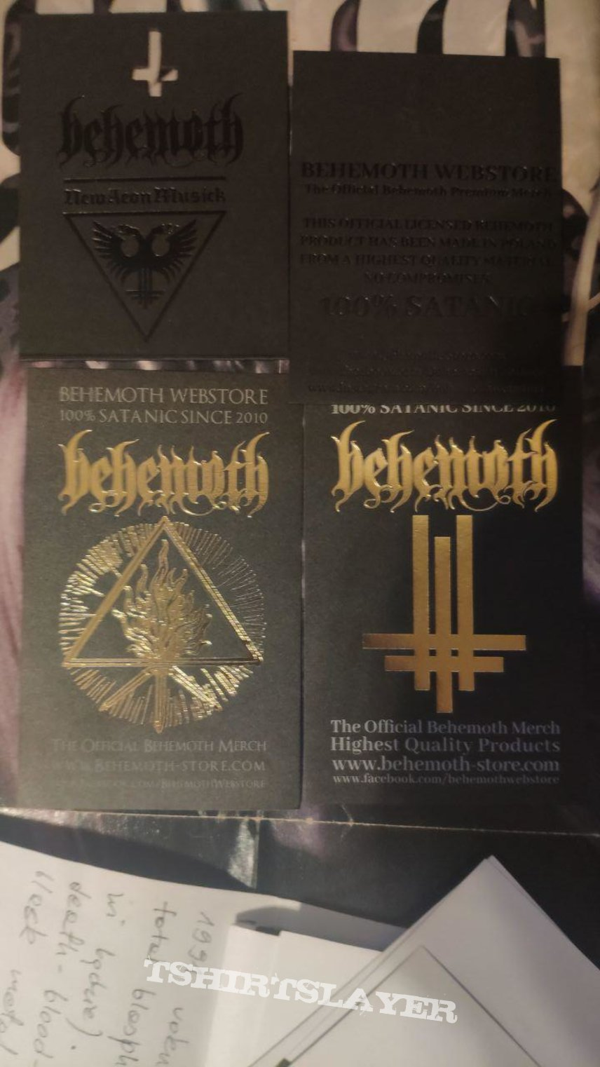 Behemoth - stickers and labels from webstore