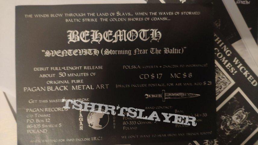 Behemoth - Sventevith flyer Pagan