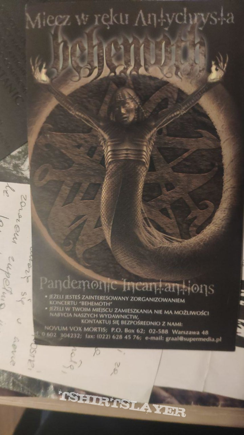 Behemoth - Pandemonic Incantations Flyer 1998 Vox Mortis
