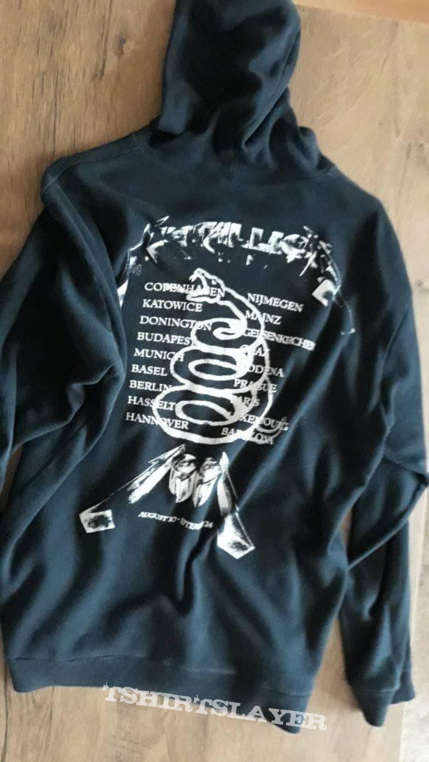 Metallica Tour 1991 Hooded Top size S/M