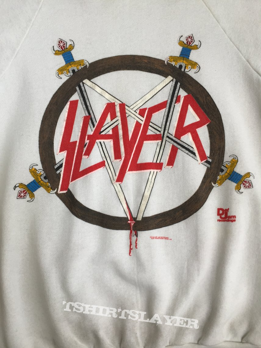 Slayer 1986 white sweatshirt
