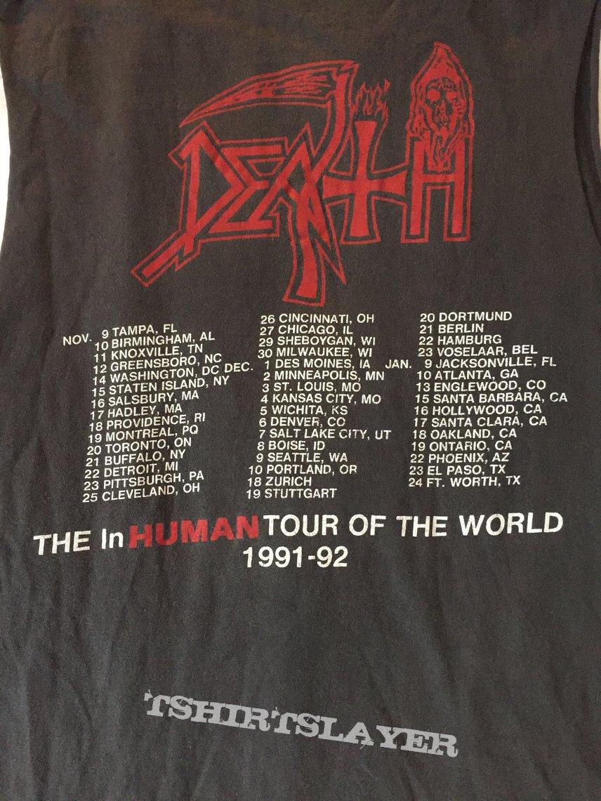 Death Human 1991-92 tour shirt