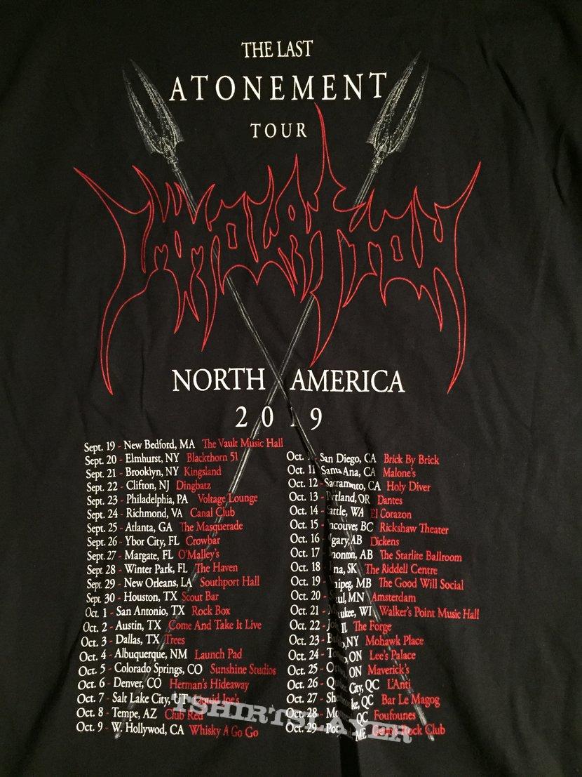Immolation 2019 tour shirt